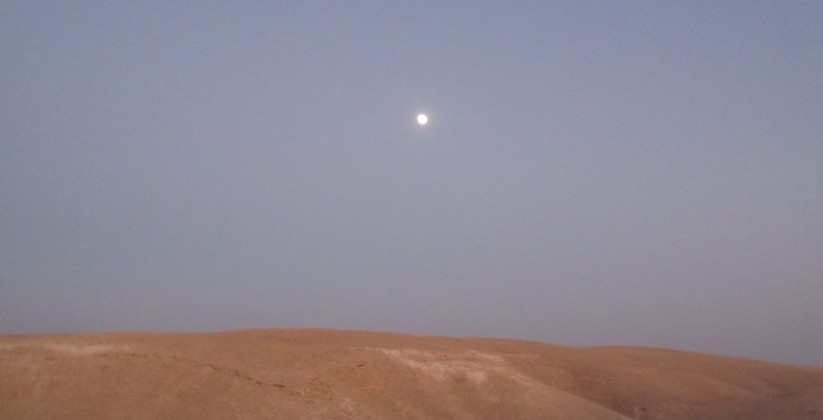 moon over the judean desert