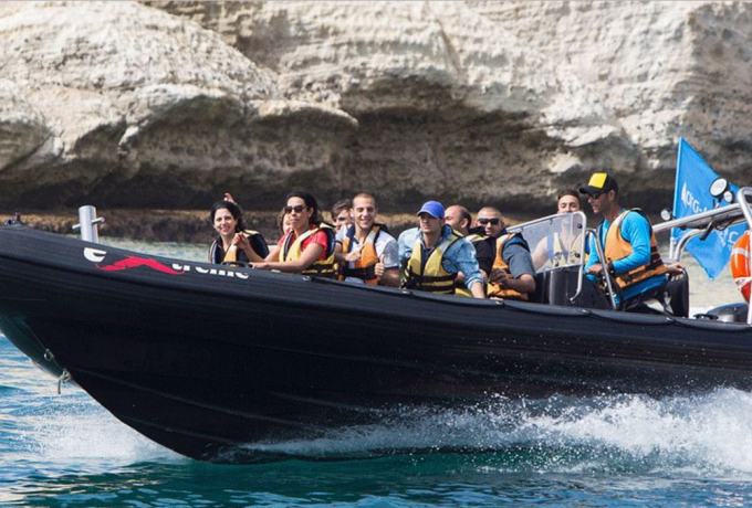 rosh hanikra speed boating